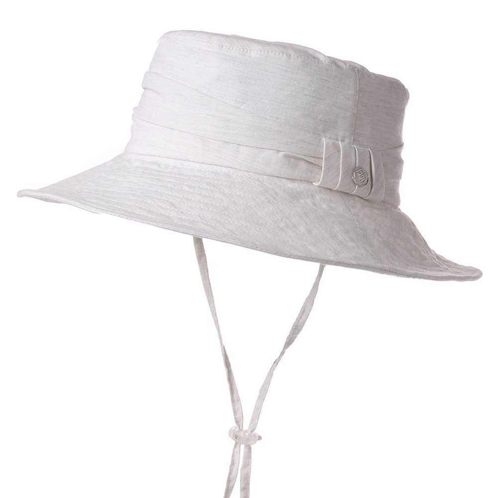 b1fb7ecec8a47e Summer Sun Hat for Women Bucket Travel Fishing Safari Beach Hat Foldable  Cotton SPF Beige SiggiHat
