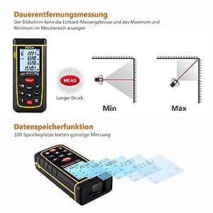 Tacklife A Ldm01 40 Advanced Laser Entfernungsmesser