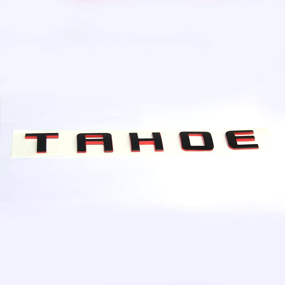 Yoaoo 1pc OEM Tahoe Red Line Nameplate Emblem Badge letter 3D Logo for Suburban Original Redline Yoaoo-GM
