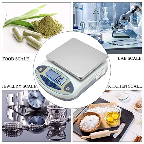 CGOLDENWALL Lab Scale 15kgx0.1g Digital Precision Scale Electronic Balance Laboratory Weighing Industrial Scale Kitchen Counting Scale Scientific Scale Calibrated (15kg, 0.1g)