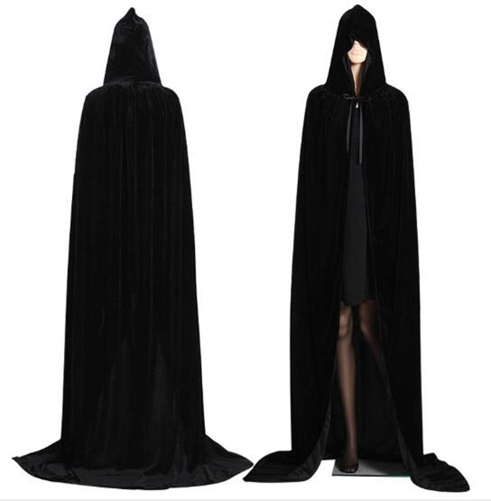 Vampire Hooded Cape Wizard Witch Robe Cloak Gothic Halloween Cosplay Costume US