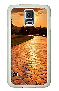 Samsung Galaxy S5 Cases & Covers - Lonely Sad Sunset PC Custom Soft Case Cover Protector for Samsung Galaxy S5 - White