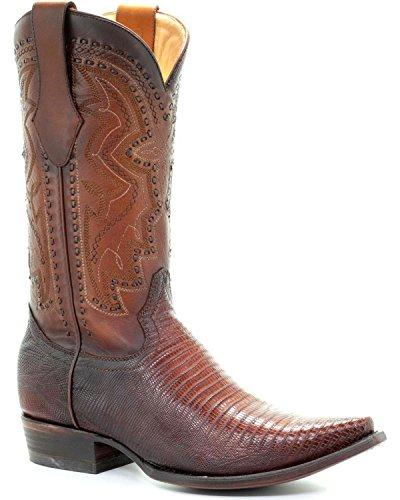 Corral Mens Lizard Cowboy Boot Snip Toe - C3237 Marrone