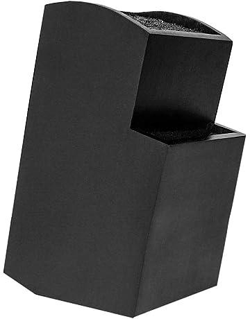 Cuchillero universal de diseño en negro brillante en bambú sostenible