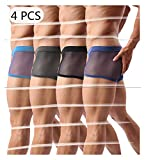 Best Mens Underwear - Men's Boxers Sexy Underwear Mesh Breathable Gay Low Review