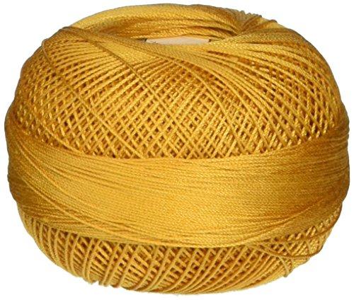 Handy Hands 210-Yard Lizbeth Cotton Thread, 25gm, Gold ()
