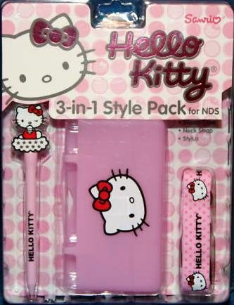Hello Kitty 3 in 1 Style Pack for NDS: Case, Neck Strap & Stylus