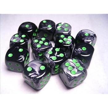 Amazon.com: d6 16mm 12 Dice Set Speckled Ninja CHX25718 ...
