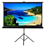 Excelvan Portable Projector Screen with Foldable Stand Tripod, Movie Screen HD Pull Up Indoor Outdoor Projection Screen for Home Theater Cinema Movie Wedding Party Office Presentation (100 Inch 16:9)