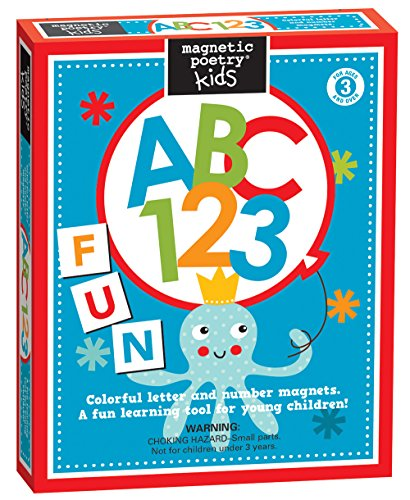 Gain Magnetic Poetry - Kids ABC 123 Kit - Ages 3 and Up - Words for Refrigerator - Write Poems and Letters on the Fridge - Made in the USA saleoff