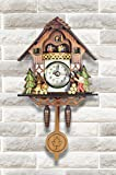 Elegant Detailed Ornamental 3D Wooden Cuckoo Clock- Dark Brown