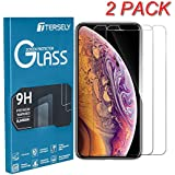 iPhone XR Screen Protector, Tersely【2 Packs】9H Hardness Case Friendly Tempered Glass Screen Protectors 3D Touch / Face ID Compatible Anti-Scratch Touch Accurate Bubble Free Film Guard for Apple iPhone XR (6.1 inch)