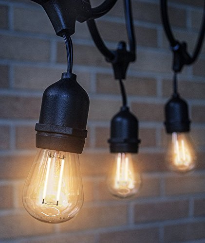 LED Outdoor & Indoor Edison Style String Lights Commercial Grade Heavy Duty Weatherproof LED ...