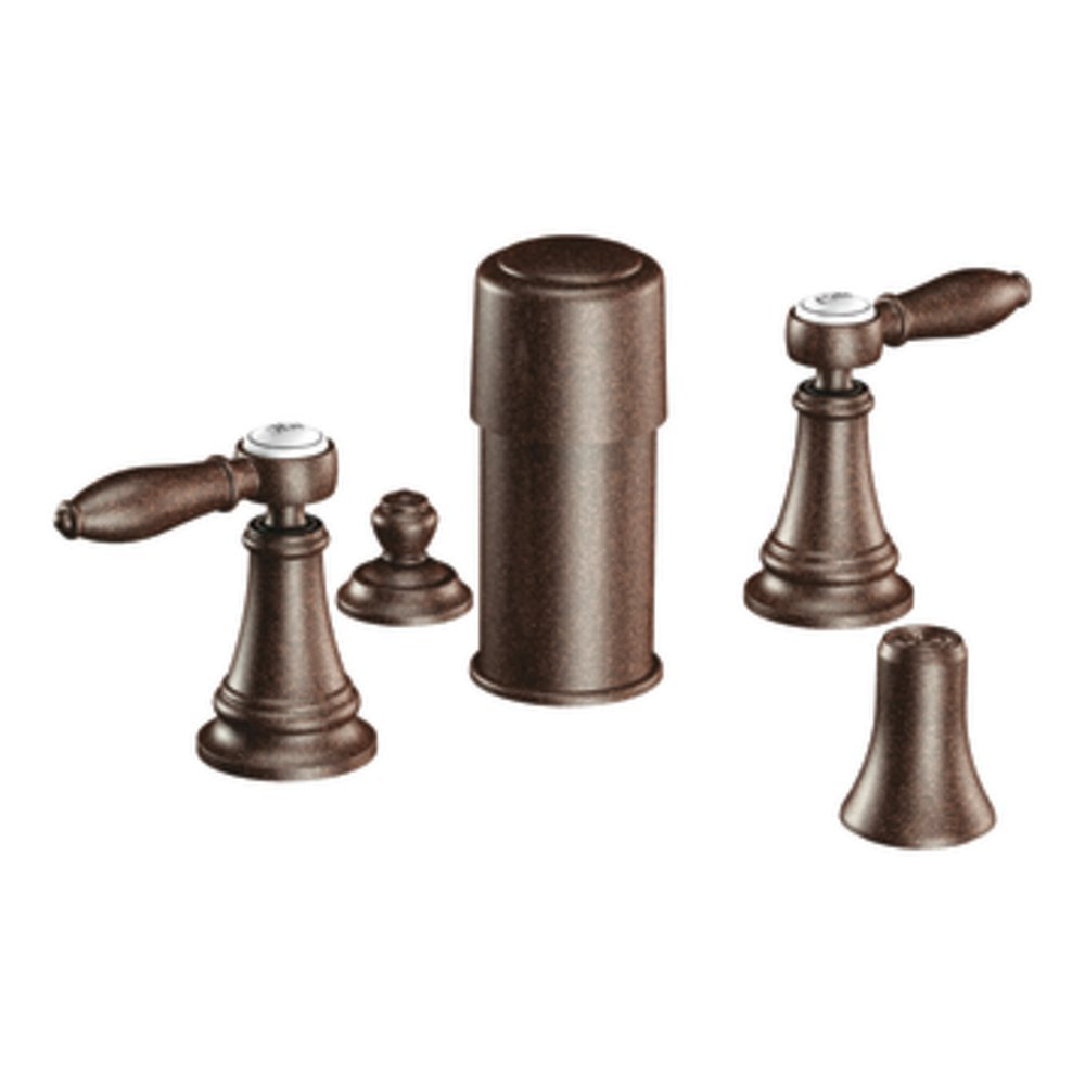 Moen TS42105ORB Weymouth two-handle bidet faucet (valve not included), Oil Rubbed Bronze