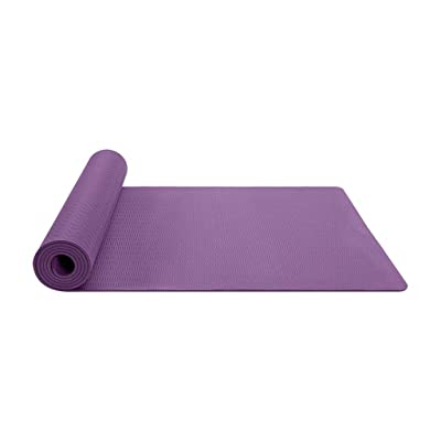 Nihewoo Thick Yoga Mat for Women Men Non Slip Fitness Exercise Mat Yoga Pilates Workout Gym Fitness Pad (183cm x 81cm, Purple): Clothing