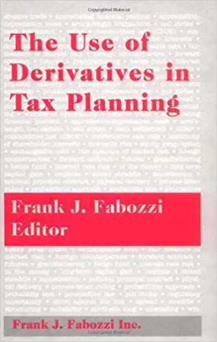 Book The Use of Derivatives in Tax Planning (Frank J. Fabozzi Series)