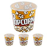 Generic YanHong-US3-151014-58 8yh1978yh - 8'' x 7.75'' Large Plastic opcorn Tubs Set of 3 Fun Set of 3 Popcorn Tubs - -Style La Movie Theater-Style Movie Th 8'' x 7.75''
