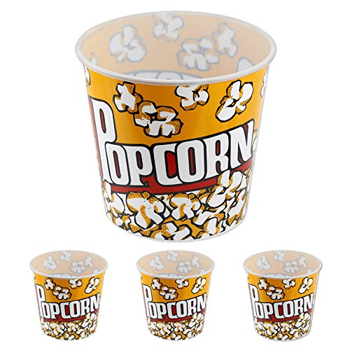 Generic YanHong-US3-151014-58 8yh1978yh - 8'' x 7.75'' Large Plastic opcorn Tubs Set of 3 Fun Set of 3 Popcorn Tubs - -Style La Movie Theater-Style Movie Th 8'' x 7.75'' by Generic