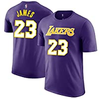 LeBron James Los Angeles Lakers Purple Youth Name & Number Jersey T-Shirt