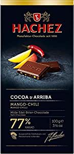 Hachez Cocoa D' Arriba Chocolate Bar, Mango Chili, 3.5 Ounce