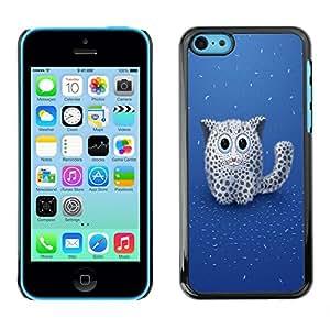 LECELL -- Funda protectora / Cubierta / Piel For Apple iPhone 5C -- Cute Fluffy Mountain Lion Cat --