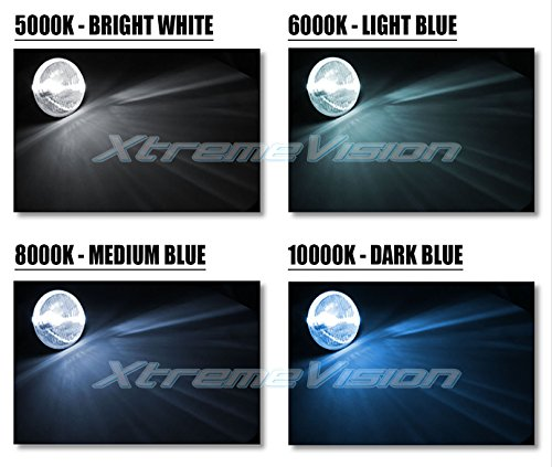 2 Year Warranty H3 5000K 5K Bright White Xtremevision DC 35W Xenon HID Lights with Premium Slim Ballast