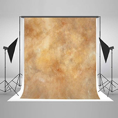 Kate 10ft(W) x10ft(H) Texture Photography Backdrops for Photographers Reused Yellow Abstract Photo Backdrop