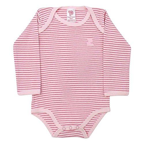 Pulla Bulla Baby Bodysuit Unisex Infants Striped Size 3-6 Months - Light - Striped Onesie Pink