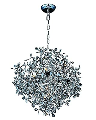 Maxim 24205BCPC Comet 10-Light Pendant, Polished Chrome Finish, Beveled Crystal Glass, G9 Xenon Xenon Bulb , 100W Max., Wet Safety Rating, Standard Dimmable, Glass Shade Material, 1150 Rated Lumens