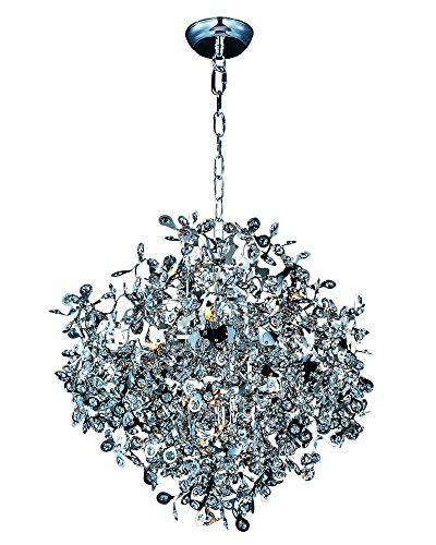 Maxim 24205BCPC Comet 10-Light Pendant, Polished Chrome Finish, Beveled Crystal Glass, G9 Xenon Xenon Bulb , 100W Max., Wet Safety Rating, Standard Dimmable, Glass Shade Material, 1150 Rated Lumens Maxim Lighting Silver Chandelier