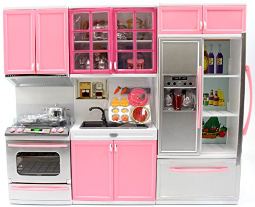 AMPERSAND SHOPS Battery Operated Doll-Sized Modern Kitchen P