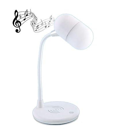 Lámpara de mesa LED con altavoz Bluetooth y cargador ...