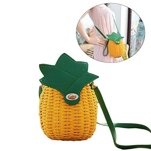 colinsa della Borsa borsa paglia Salir borsa fresco uno viaggio da Shopping del ananas di estivo Spalla viaggio qqdIr