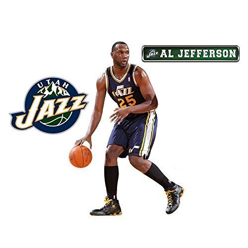 Fathead NBA Utah Jazz Al Jefferson Junior Wall Graphic