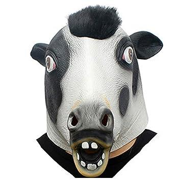 Máscara, Novedad De Lujo Fiesta De Disfraces De Halloween Látex Animal Cabeza Máscara Vaca