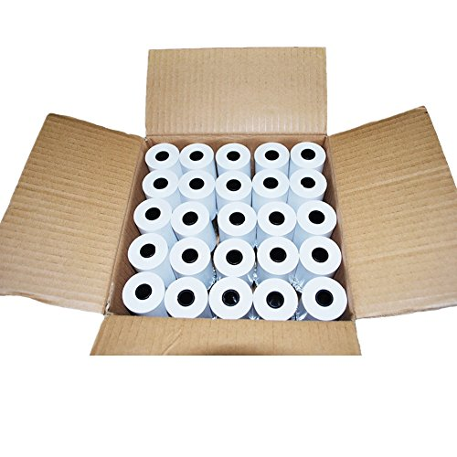 "2 1/4"" x 50' Thermal Receipt Paper, Cash Register POS Paper Roll, 50 Rolls"