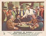 MASTERSON OF KANSAS ORIGINAL WESTERN LOBBY CARD GEORGE MONTGOMERY POKER GAME