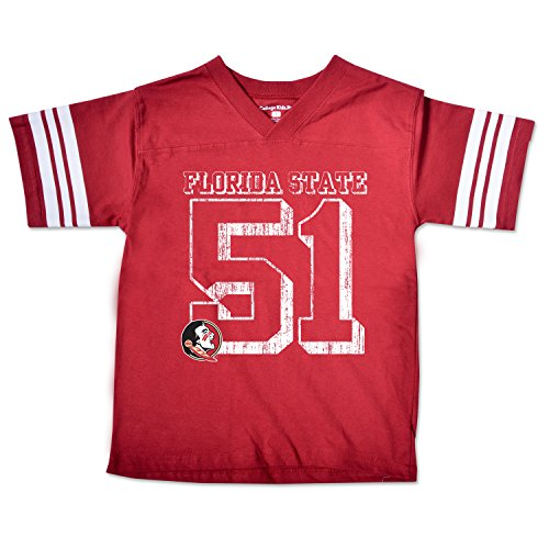 College Kids NCAA Florida State Seminoles Youth Football Tee, Size 7/X-Small, Cardinal ()