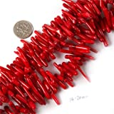 Gem-Inside 14-25mm Branch Red Coral Beads Strands 15 Inches