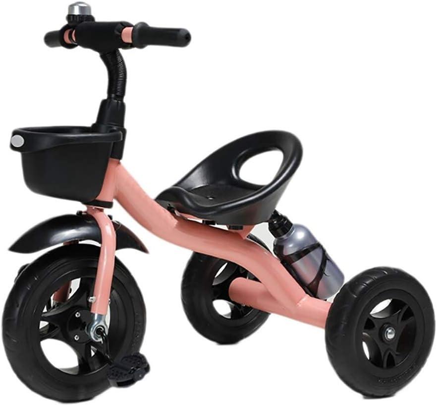 SONG Triccilos Bebes evolutivo Carro De Bebé Bicicleta De Equilibrio Triciclo Ligero con Bell Juguetes De Montar Excursión De Pasajeros Presente Bebé De Juguete De Cumpleaños (Color : Pink)