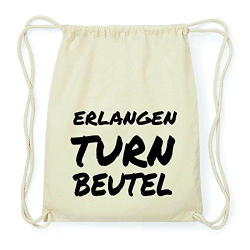 JOllify ERLANGEN Hipster Turnbeutel Tasche Rucksack aus Baumwolle - Farbe: natur Design: Turnbeutel SIlhtP67