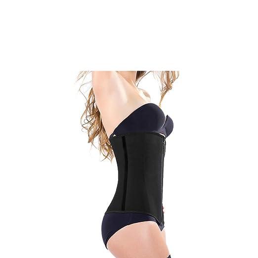 ODOKAY Women Waist Trainer Underbust Corset Waist Shapewear Slim Corset Zipper Waist Cincher