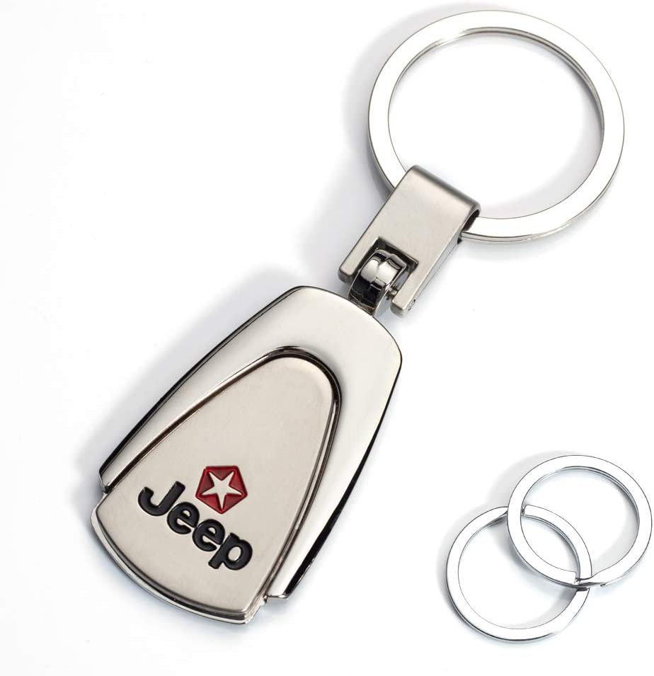Elegant Durable JIYUE Keychain for Jeep Key Chain Car Logo Key Chain Accessories Simple