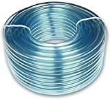 8mm ID x 11mm OD Clear PVC Tubing Pipe Hose 5 Metres