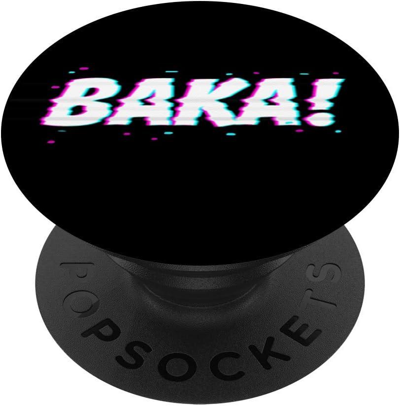 Japanese Word Baka Anime Expression Manga Lover Otaku Gift PopSockets Agarre y Soporte para Tel/éfonos y Tabletas