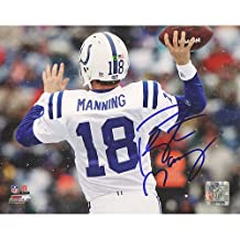 NFL Indianapolis Colts Peyton Manning White Signed Jersey Throwing Vs. Bills 16 x 20-Inch Signed Photograph
