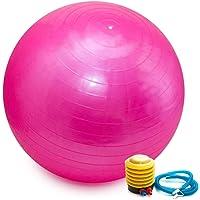 Bola Pilates Yoga Fitness 75 cm C/Bomba Abdominal Ginastica