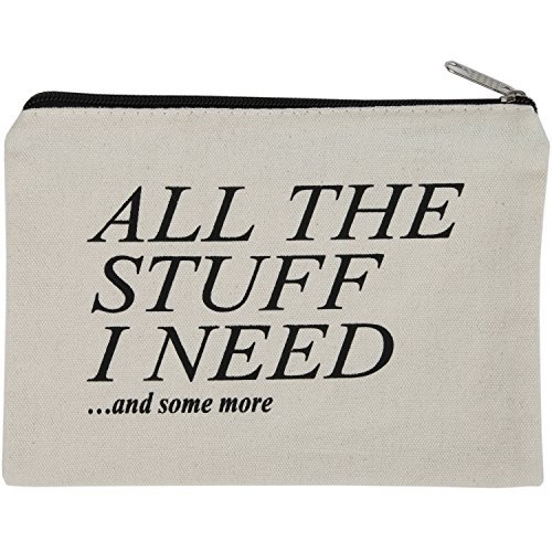 Canvas Zipper Pouch, Back to School Student Supplies Organizer Cute Quote, Best for College Dorm Room Accessories, Students BTS Organization Bag, Holds 50 Pencil-Make - 21 Sunglasses Forever