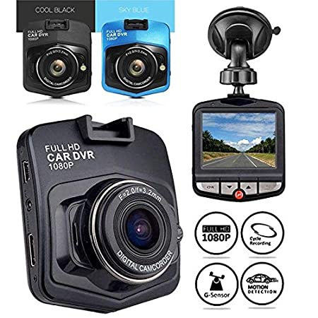 ZZH C/ámara del Registrador del Coche con 2.21080P HD Car DVR C/ámara del veh/ículo Dash CAM Video G-Sensor Night Vision/_Black