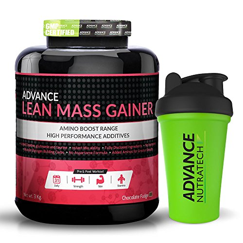 Lean Mass Gainer 6LBS Chocolate + Free Shaker With 42 Servings